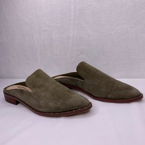Sam Edelman Lewellyn Mule Slip On Shoes Moss Green